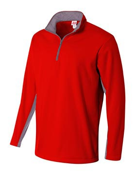 1/4 Zip Color Block Fleece Jacket