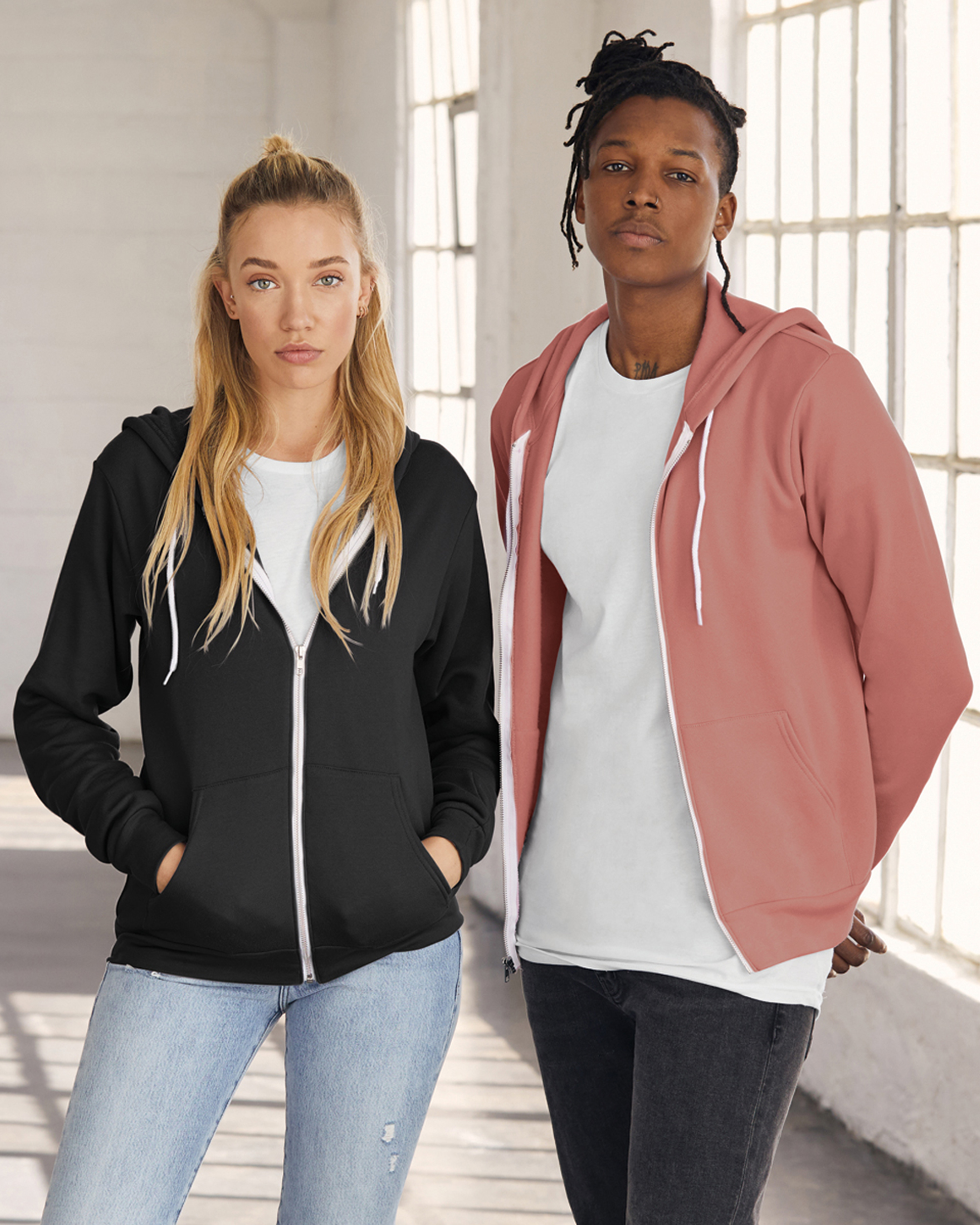 Unisex Sponge Fleece Full Zip Hoodie